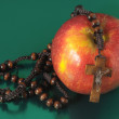 Bible Eva's Sin Red Apple — Stock Photo #34854221