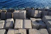 çimento dalgakıran küpleri — Stok fotoğraf