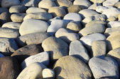 Pedras redondas, suavizadas pela água — Foto Stock