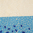 Blue and White Texture Mosaic — Stock Photo