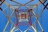 Electric Power Line Pylon — Stock Photo