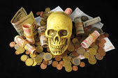 Death and Money Concept — Stock Photo