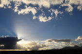 Sun Rays and Clouds — Stock Photo