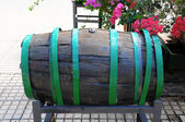 Decorative Old Wooden Barrel — Stok fotoğraf