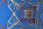 Electric Power Line Pylon — Foto Stock