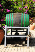 Decorative Old Wooden Barrel — Stock Photo