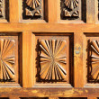 Wooden Sculpture Door — Stock Photo
