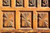 Wooden Sculpture Door — Stock Photo