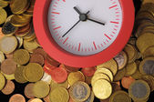 O tempo é o conceito de dinheiro — Foto Stock