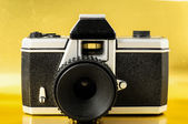 Classic 35mm Plastic Toy Photo Camera — Stock fotografie