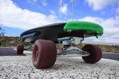Vintage Style Longboard Black Skateboard — Stockfoto