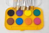 Yellow Watercolor Set — Stock Photo