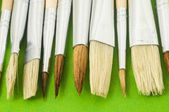 New Wooden Different Paintbrush Texture — Stock Photo