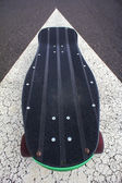 Vintage Style Longboard Black Skateboard — Photo