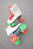 Old Vintage White Skate Boot — Stock Photo