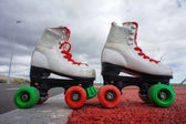 Old Vintage White Skate Boot — Stock fotografie