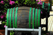 Decorative Old Wooden Barrel — Stock Photo