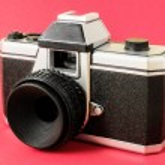 Classic 35mm Plastic Toy Photo Camera — Stock Photo