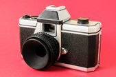 Classic 35mm Plastic Toy Photo Camera — Stock Photo