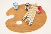 New Painting Wooden Palette — 图库照片