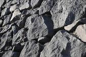 Antigua muralla de roca gris — Foto de Stock