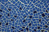 Mosaico azul e branco textura — Fotografia Stock