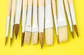 New Wooden Different Paintbrush Texture — 图库照片
