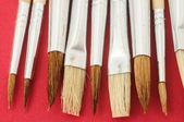 Nouvelle texture de pinceau différents en bois — Photo