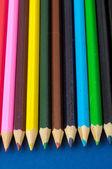 Новые цветные карандаши текстурированные — Стоковое фото
