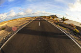 Long Empty Desert Road — Stockfoto