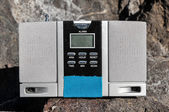 Old Vintage Two Speakers Gray Radio — Stock Photo