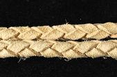 布朗纹理编织皮革项链 — 图库照片