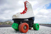 Old Vintage White Skate Boot — Stock Photo