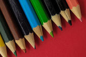 New Colored Pencils Textured — Foto Stock