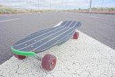 Deskorolki longboard czarny styl Vintage — Zdjęcie stockowe