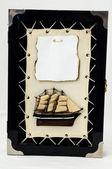 Houten schip beeldje — Stockfoto