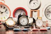 Many different Clocks — Zdjęcie stockowe