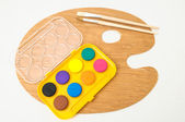 New Painting Wooden Palette — Stock Photo