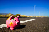 Pink Piggy Bank — Stock Photo