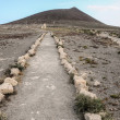 Pathway in the Volcanic Desert — Stock Photo
