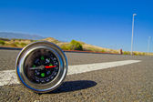 Compass on the Road — Stock Photo