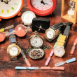 Many different Clocks — Stock Photo #44044363