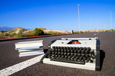 On the Road Writing Concept — Stock Photo