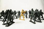 Soldados de plomo plástico — Foto de Stock