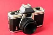 古典的な 35 ミリメートルのプラスチックのおもちゃの写真のカメラ — ストック写真