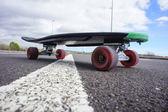 Vintage Style Longboard Black Skateboard — Stock Photo