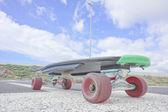 Vintage Style Longboard Black Skateboard — Stock fotografie