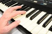 Tastiera pianoforte closeup — Foto Stock