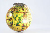 Gecko Lizard and Globe — Stock Photo