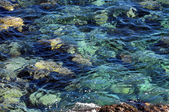 Blue Water Waves Texture — Stock Photo